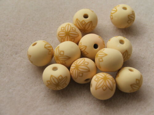 PATTERN CHOICE 10 x 12mm handmade ROUND fimo beads for crafts and beading