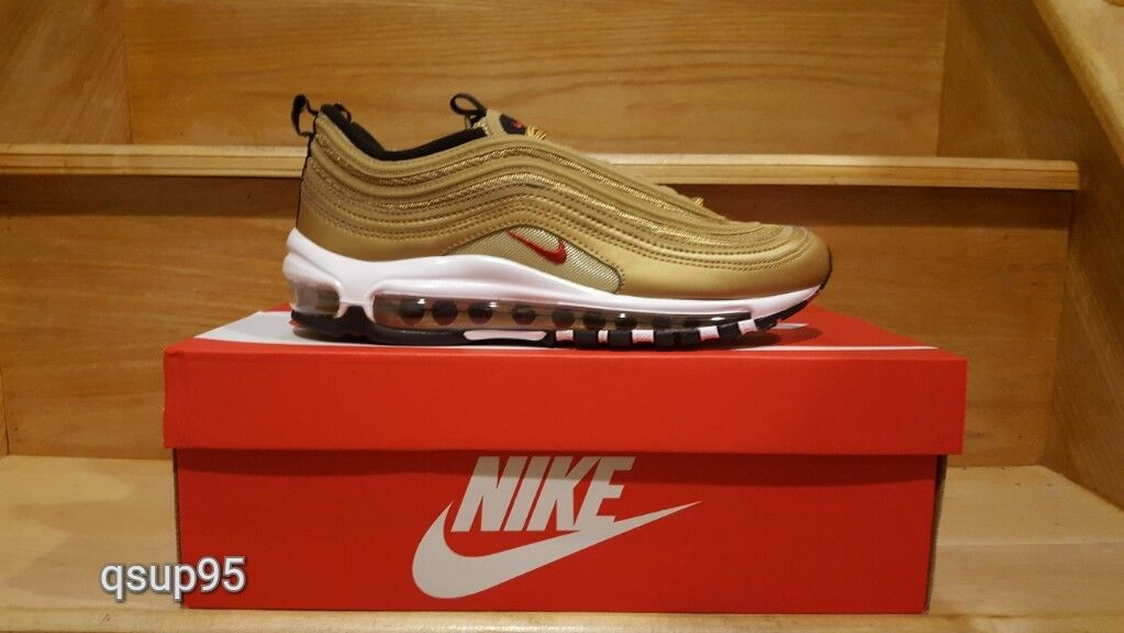 Nike Air Max 97 Metallic Gold Pack OG QS 2018 884421-700 GS Women Men Size 4Y-13