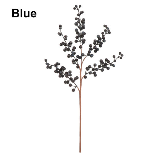 Party Home Decor Fake Flowers Artificial Berry Berries Branch Simulation Cherry
