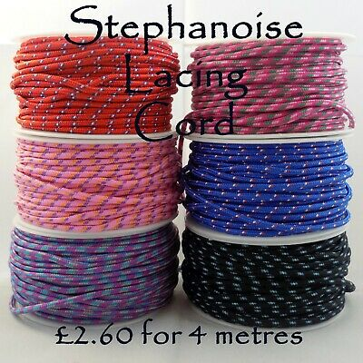 Stephanoise Spiral Elastic Lace Bright Multi-coloured Stretchy Hair /& Shoes
