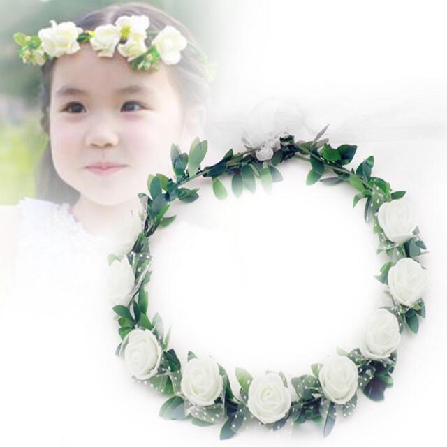 New Handmade Delicate Head Wreath Wedding Bride Flower Crown Headpiece White SA