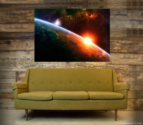 A1 - A5 SIZES AVAILABLE! STUNNING EARTH FROM SPACE WALL ART POSTER