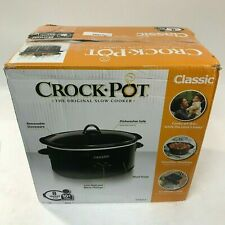Black Crock-Pot 3730-B Oval Manual Slow Cooker 3 Quart Kitchen ...
