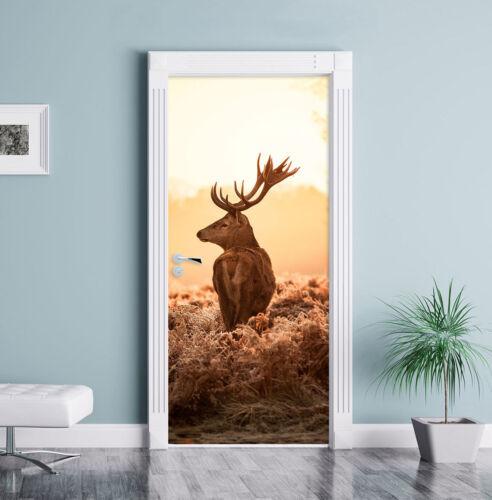 Proud Stag Door Decal 200x90cm Door Mural Door Sticker