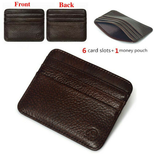 Exquisite Purse Men/'s Genuine Leather Thin Slim Wallet ID Credit Card Holder HOT