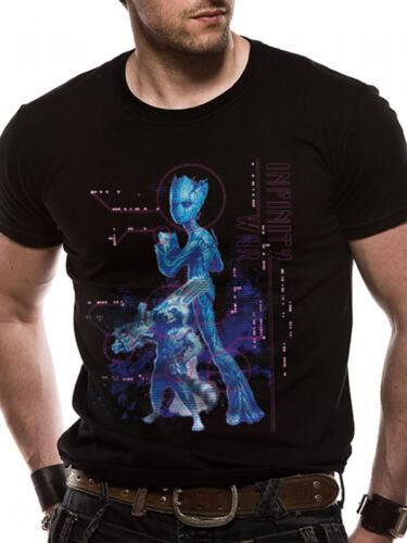 Neon Teen Groot Avengers Infinity War Official Marvel Black Mens T-shirt