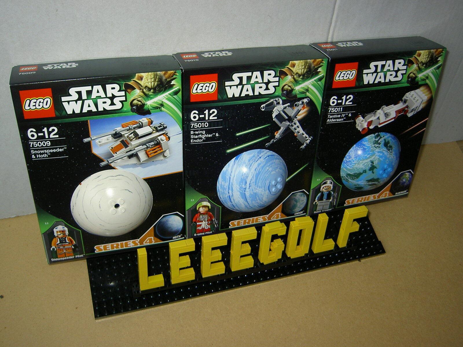 NEU Lego STARWARS Planeten Serie 4 : 75009 + 75010 + 75011 NEU ungeöffnet + OVP
