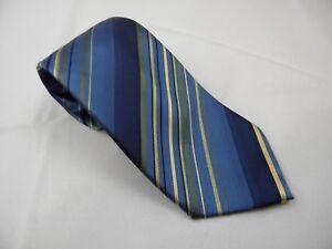 Van-Huesen-Stain-Resistant-Blue-Purple-Yellow-Stripes-Men-039-s-Neck-Tie-NWOT