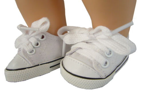 For Bitty Baby Doll Clothes White Canvas Sneakers Shoes Accessories