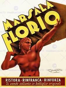 ADVERT-MARSALA-WINE-FLORIO-SICILY-ITALY-DRINK-POSTER-ART-PRINT-PICTURE-BB1898B