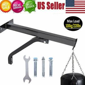 Heavy Duty Punching Bag Wall Bracket Steel Mount Hanging Stand Boxing MMA LI