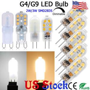 AC//DC 12V 10 Pack G4 LED Bulb Daylight White 3W Equivalent to Bi-Pin G4 Base Halogen Bulb 20W-25W Dimmable G4 LED Light Bulb 6000K