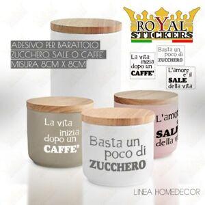 ADESIVO-X-BARATTOLI-A-SCELTA-SALE-ZUCCHERO-O-CAFFE-039-CONTENITORI-CUCINA-KITCHEN