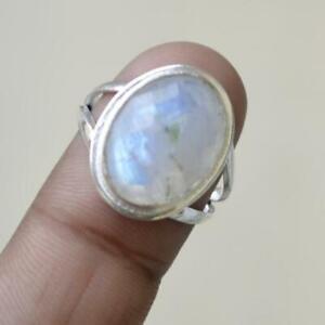 Moonstone Ring 925 Sterling Silver Ring Handmade Ring Boho Ring All Size KA-32