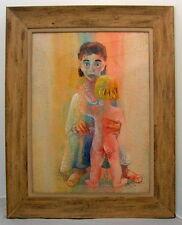 LOUIS WOLCHONOK 1898-1973 PROVINCETOWN SOCIAL REALIST WHITNEY MUSEUM PASTEL/WC