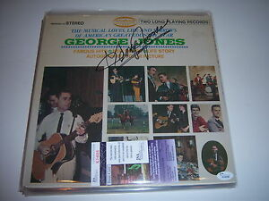 GEORGE-JONES-FAMOUS-HITS-JSA-COA-SIGNED-LP-RECORD-ALBUM