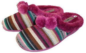 Mirak womens Slip on Mule Slippers Style Chabilis Colour Navy Sizes 3-8 New