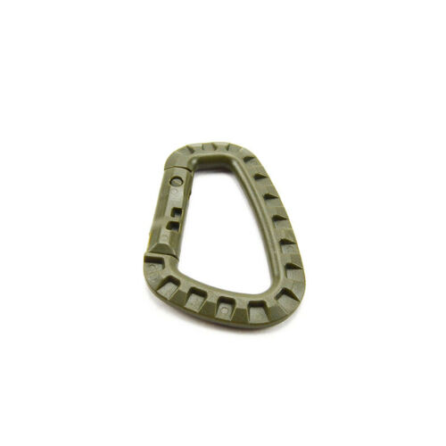 Hike//Camping Tactical Buckle Plastic Hook D Shape EDC Carabiner