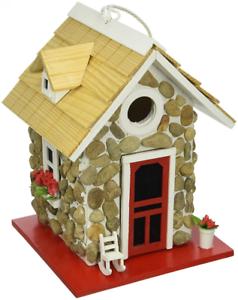 Image Is Loading Handmade Fieldstone Guest Cottage Birdhouse Outdoor Bird House