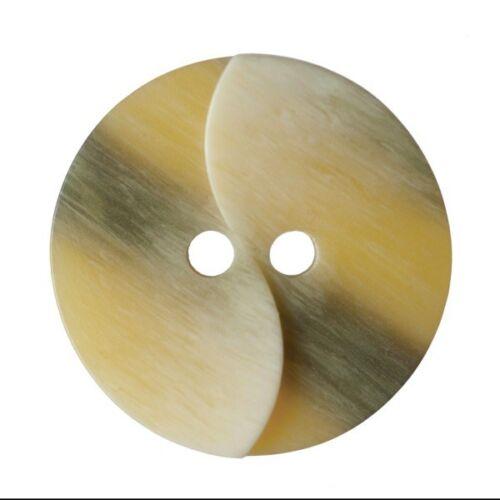 Paquete De 9 Dobladillo SPLIT Twist efecto de grano de madera 2 Agujeros Coser a través de los botones de 15mm