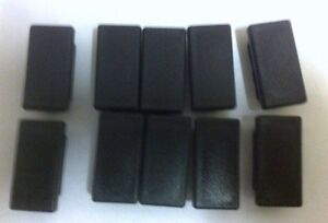 10 of  50mm x 25 mm square outside dimension Plastic End Caps for metal tube