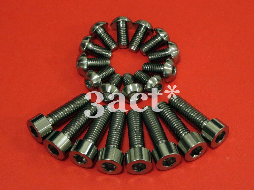 12pcs M5 x 10mm, 8 pcs M6 x 20mm Titanium   Ti Bolt For Disc Brake redor Caliper