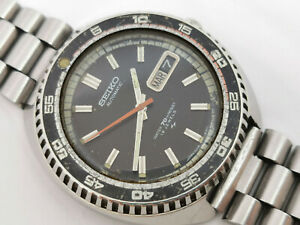 Vintage-Seiko-Automatic-7006-8030-Sport-Diver-Black-Dial-Cal-7006A-WORKING