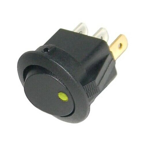 Wippschalter rund EIN-AUS 12V LED beleuchtet 12 Volt mini Schalter KFZ /&Co