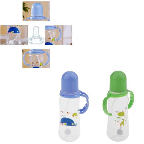 2 Stücke Kinder Säuglingspflege Nippel Milchflasche Silikon PP Wasser