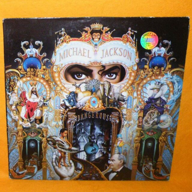"1991 EPIC SONY MUSIC MICHAEL JACKSON DANGEROUS 12"" DOUBLE LP ALBUM VINYL RECORD"