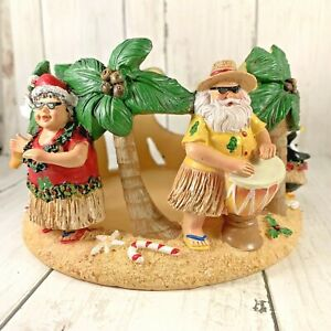 Yankee-Candle-Beach-Friends-Santa-Christmas-Large-4-1-2-Wide-Jar-Holder-Retired