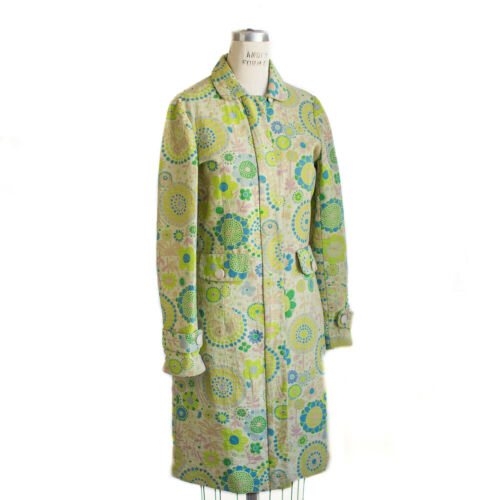 Floral Military Coat Jacobs Women's Retro Xs Marc 60s Psychedelic Green CdwqvYyt