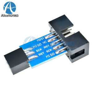 10PCS-10-Pin-Convert-to-Standard-6-Pin-Adapter-Board-ATMEL-AVRISP-USBASP-STK500
