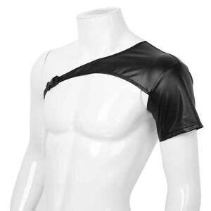Mens Leather Body Chest Harness Clubwear Restrain Belt Costume Strap Dress Fancy