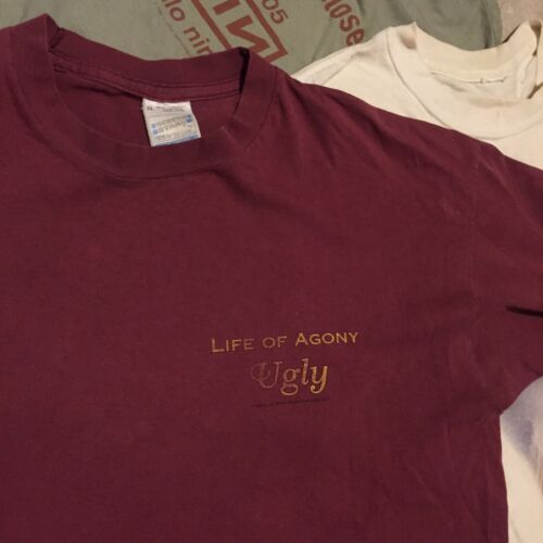 Vintage LIFE OF AGONY t Shirt Size XL 1995 Ugly vt