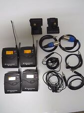 2 Sets Sennheiser EW100 G3 100 A Wireless Microphone 516-558 Mhz MINT Pelican