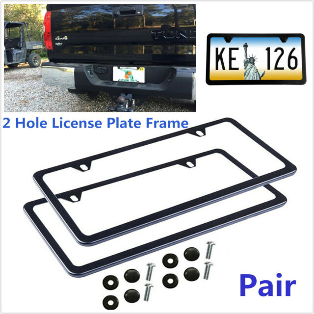 Dodge Charger SRT-8 SRT8 Front Black Stainless Steel License Plate Frame w// Caps
