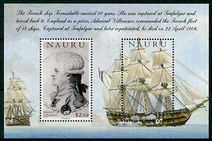 Nauru-2005-neuf-sans-charniere-Battle-of-Trafalgar-200th-Amiral-Villeneuve-2-V-M-S-Navires-timbres