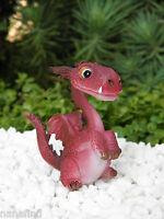 Miniature Dollhouse Fairy Garden Mini Red Dragon Cute Standing Figurine