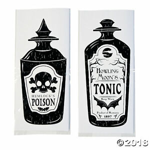 PACK-12-HALLOWEEN-CELLOPHANE-BAGS-PARTY-TABLE-DECORATION-FAVOR-GIFT-LOLLY-CELLO