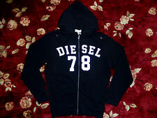 $178 DIESEL Mens Black S-Gunter Zip-up Hoody Size Large L Authentic Pullover