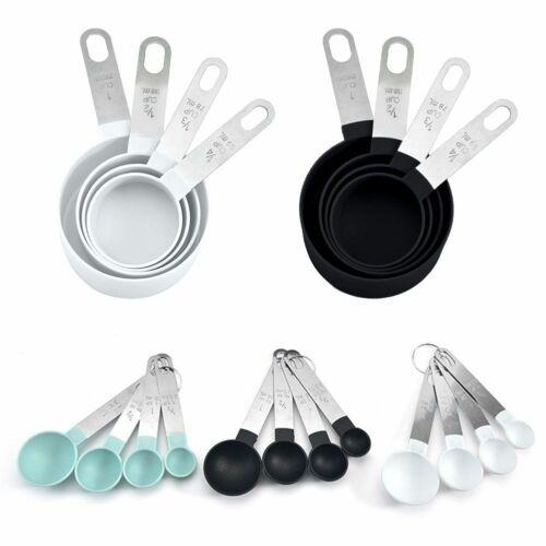 4pcs//Set Stainless Steel Measuring Cups Spoons Kitchen Baking Cooking Tool Kit