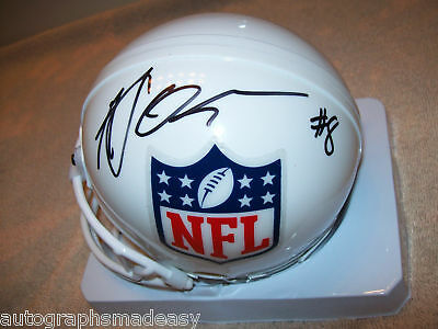 Autographs-original College-ncaa Trustful Aj Green Georgia Bulldogs Signed Nfl Helmet W/proof