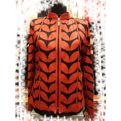 Leather Leaf Jackets for Women