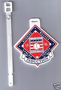1996-HALL-OF-FAME-INDUCTION-GOLF-BAG-TAG-BUNNING-WEAVER