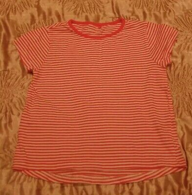 Fiducioso Girl's Smart Estate Blusa Top Rosa A Righe T-shirt 3-4 Anni Da George-mostra Il Titolo Originale