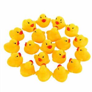 1-100Pcs Mini Yellow Rubber Duck Ducks Bath Toy Kids Bathtime Squeaky Water Play
