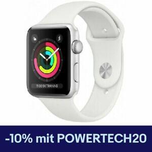 Apple Watch 3 - 42mm - GPS - Aluminium Silver / Sportarmband Weiß - NEU & OVP