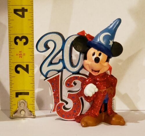 Disney Mickey Mouse Sorcerer Ornament Christmas Theme Parks Holiday Tree New