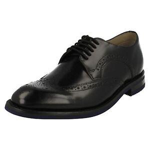 Hombre Con Cordones De Limite Clarks Negros Elegante Zapatos Swinley Piel wSrfRqwc